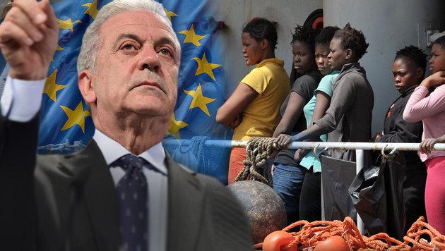 """Stellt """"positive und negative Anreize"""" in Aussicht: EU-Migrationskommissar Dimitris Avramopoulos (Bild: thinkstockphotos.de, AFP)"""