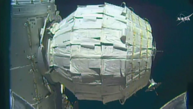 So sieht BEAM von außen betrachtet aus. (Bild: AP/NASA)