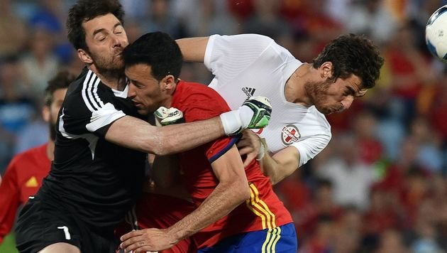 Spanien-Blamage bei EM-Generalprobe gegen Georgien (Bild: AFP)