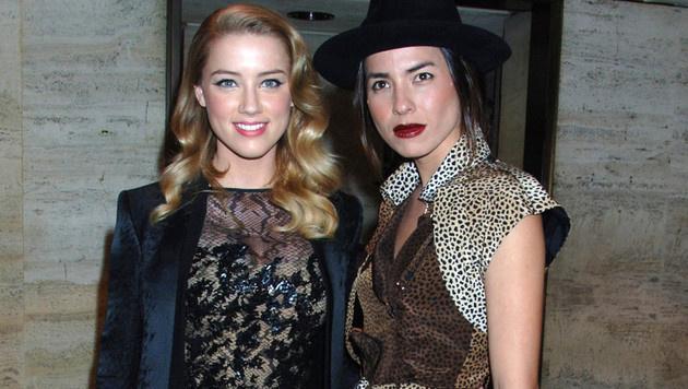 Amber Heard und ihre Ex-Ehefrau Tasya van Ree (Bild: Viennareport)