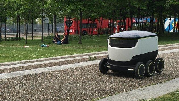 Starship-Roboter tragen in Europa Lieferungen aus (Bild: Starship)