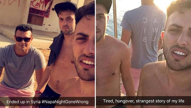 Via Snapchat dokumentierten die Briten ihren unfreiwilligen Ausflug. (Bild: Snapchat)