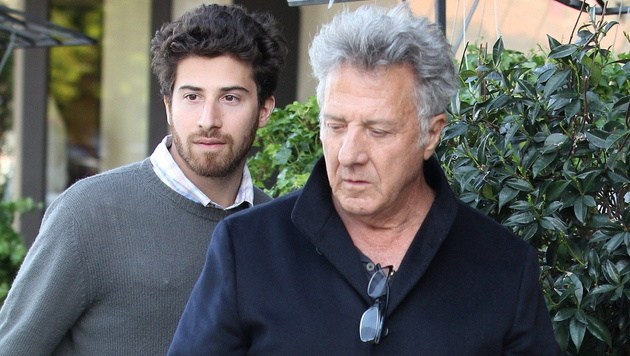 Dustin Hoffman mit Sohn Jake (Bild: Viennareport)