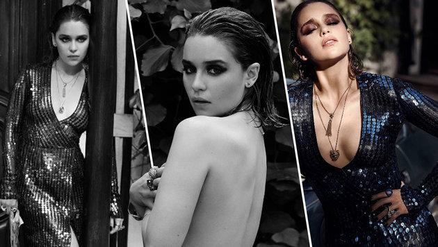 Emilia Clarke verführt mit sexy Oben-ohne-Shooting (Bild: instagram.com/violetgrey)