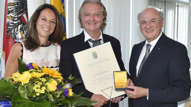 Vera Russwurm mit ihrem Mann Peter Hofbauer und LH Erwin Pröll (Bild: NLK REINBERGER)