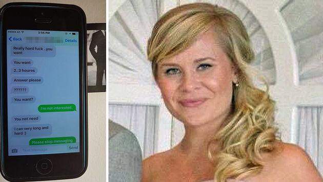 Eines der SMS des Taxlers; Jennifer N. warnt nun andere Frauen vor unseriösen Taxifahrern. (Bild: Jennifer N.)