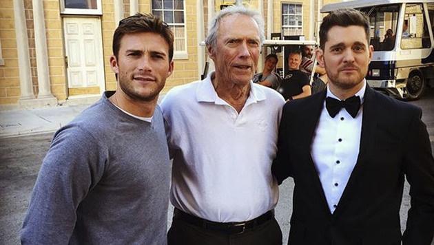 Scott Eastwood und Clint Eastwood (mit Michael Bublé) (Bild: Viennareport)