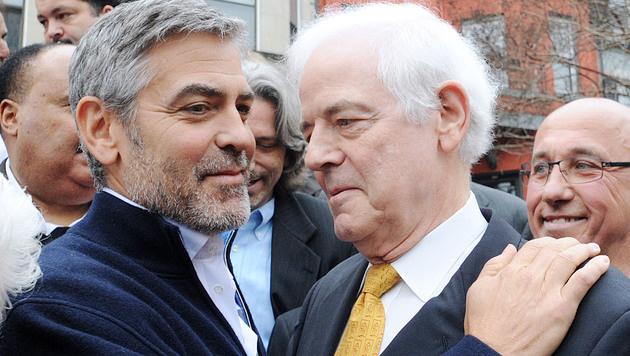George Clooney und Papa Nick Clooney (Bild: Viennareport)