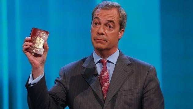 Nigel Farage (Bild: APA/AFP/Rex Features/MATT FROST/ITV/REX/SHUTTERSTOCK)