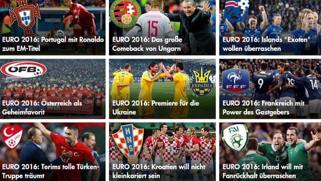 Die EURO auf krone.at: Hier verpassen Sie nichts!