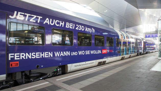 ORF-TVthek ab sofort störungsfrei in ÖBB-Railjets (Bild: ÖBB/Andreas Scheiblecker)