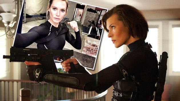 Stunt-Double von Milla Jovovich verliert Arm (Bild: Viennareport, instagram.com/olivia_stunts)