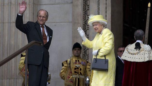 Queen Elizabeth und Prinz Philip (Bild: AFP)