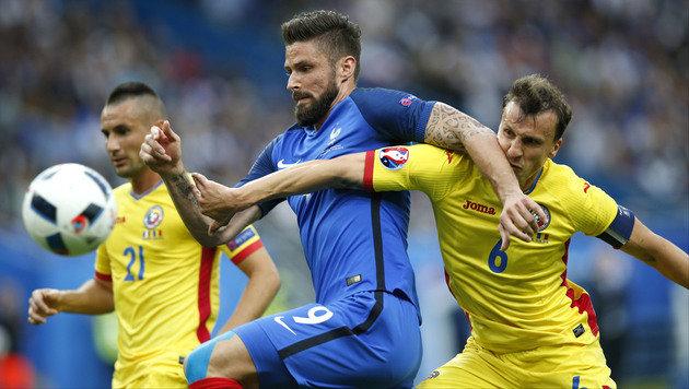 Dimitri Payet rettet Frankreich Sieg gegen Rumänen (Bild: AP)