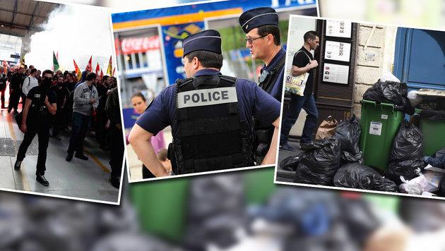 Zum EURO-Start: Frankreich in der Krise (Bild: APA/AFP/Dominiqu Faget, AFP, Christian Mayerhofer)