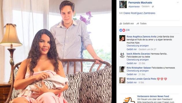 Transgender-Paar-Baby: Fernando ist Mama und Papa (Bild: Facebook.com/Fernando Machado)