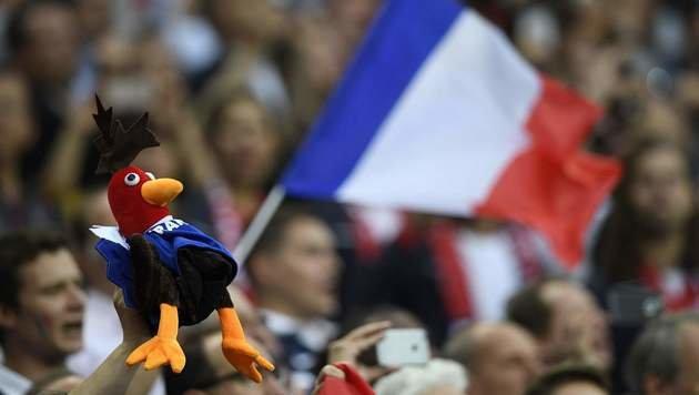 Der gallische Hahn darf bei den Franzosen nie fehlen! (Bild: AFP or Licensors)