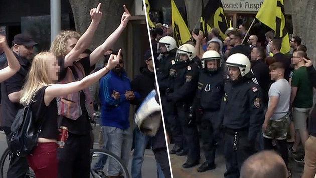 """""""Demo-Schlacht war wie Vorstufe zum Bürgerkrieg"""" (Bild: krone.tv)"""
