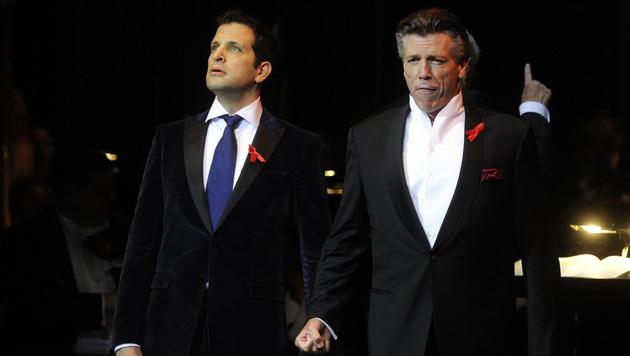 Luca Pisaroni (li.) und Thomas Hampson (Bild: APA/HERBERT PFARRHOFER)