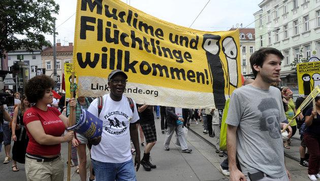 """Demo-Schlacht war wie Vorstufe zum Bürgerkrieg"" (Bild: APA/HERBERT PFARRHOFER)"