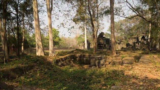 Die von Wäldern überwachsenen Ruinen von Preah Khan (Bild: AFP/Francisco Goncalves/CALI)