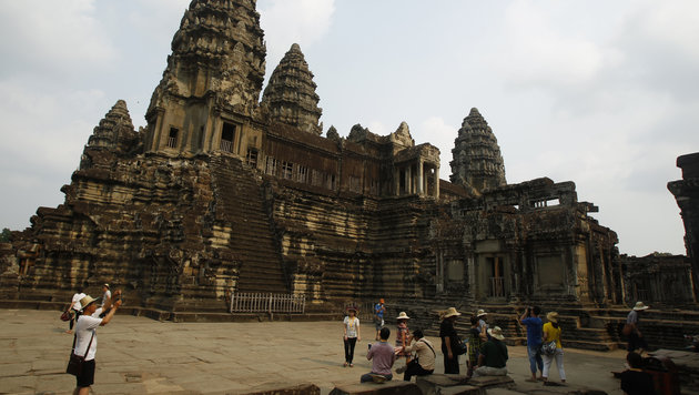 Der berühmte Tempel in Angkor Wat (Bild: Associated Press)