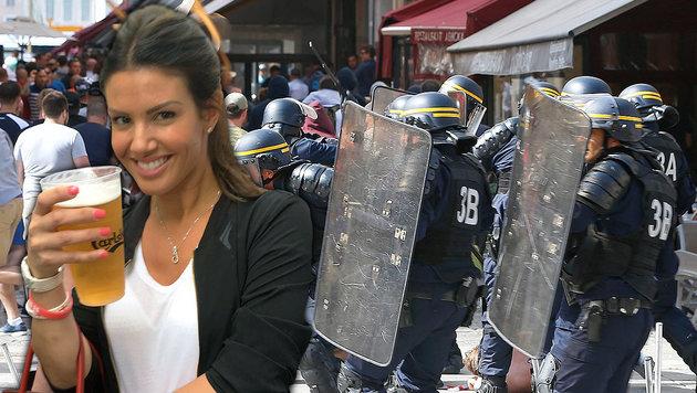 """Mit Tränengas beschossen!"" Vardys Frau klagt an (Bild: AP/Darko Bandic, twitter.com)"