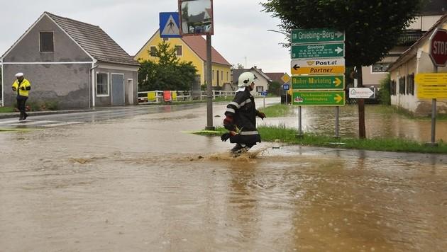 Überflutungen nach Unwettern in der Steiermark (Bild: APA/LFV/MEIER)