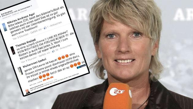 Weil eine Frau kommentiert, drehen die Fans durch (Bild: ZDF, twitter.com)