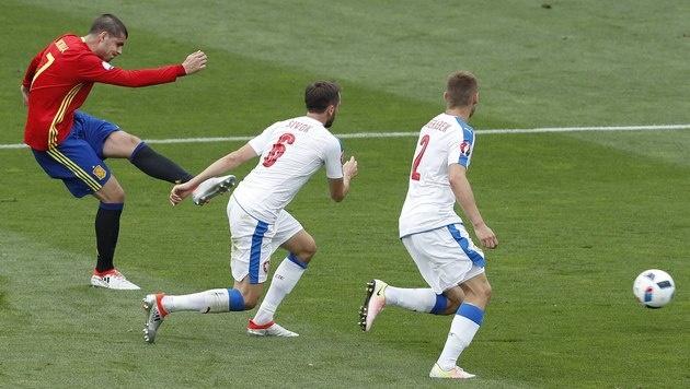 Abschluss von Morata (Bild: AP)