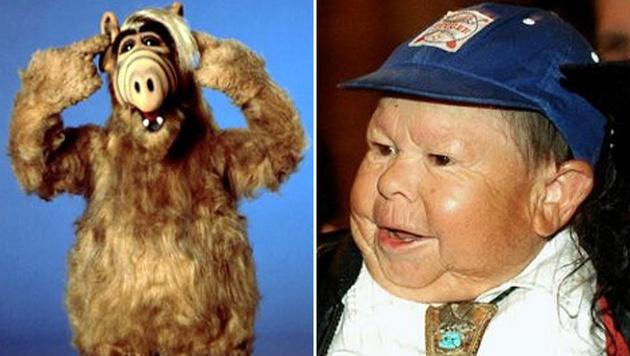 Alf und sein Darsteller, Michu Meszaros (Bild: twitter.com)