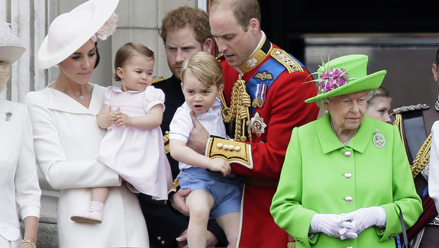 Prinzessin Charlotte feierte ihr royales Debüt. (Bild: ASSOCIATED PRESS)