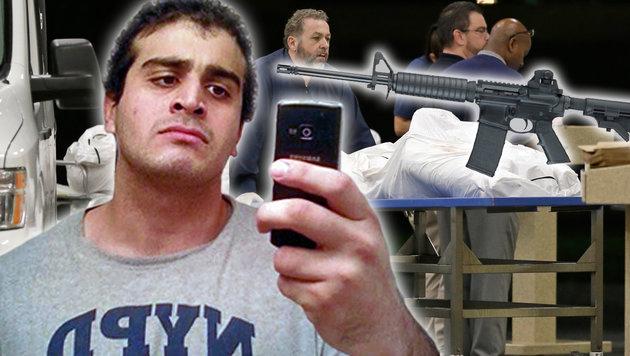 """Orlando-Killer: """"Ich habe IS die Treue geschworen"""" (Bild: AP/Alan Diaz, MySpace.com, twitter.com)"""