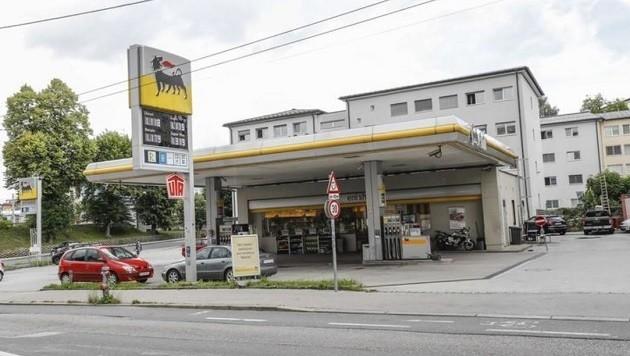Die ENI-Tankstelle beim Kreisverkehr Gabelsbergerstraße (Bild: Markus Tschepp)