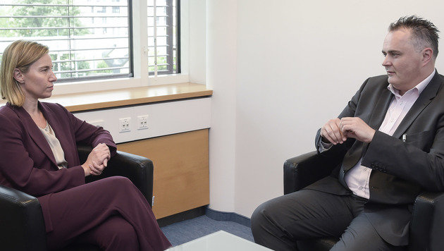 Mogherini mit Verteidigungsminister Doskozil (Bild: HBF/Pusch)