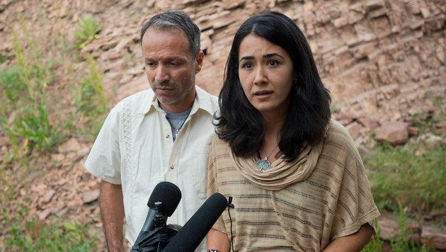Die Ex-Gattin des Attentäters mit ihrem Verlobten (Bild: AP)