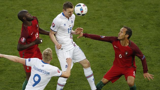 1:1! Wackere Isländer schocken Portugal (Bild: AP)