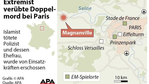 Paris: IS-Terrorist streamte Polizistenmord im Web (Bild: APA)