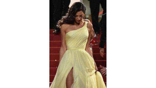 Amal Clooney bei den Filmfestspielen in Cannes (Bild: AFP)