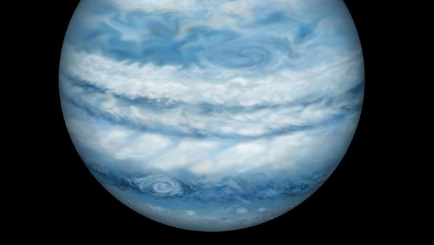 Künstlerische Illustration: So stellen sich die Forscher Kepler-1647b vor (Bild: Lynette Cook)