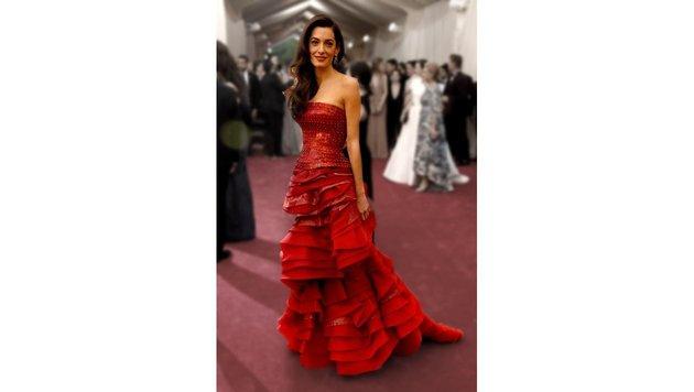 Amal Clooney bei einer Gala in New York (Bild: AFP)