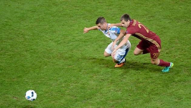 Slowakei besiegt Russland mit 2:1 (Bild: AFP)