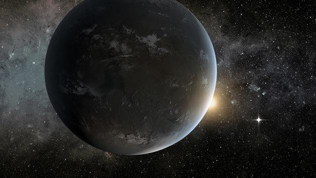 Künstlerische Illustration der Supererde CoRoT-24b (Bild: NASA/JPL)
