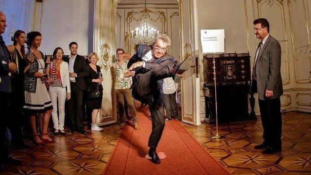 Gelenkig: Der Bundespräsident zeigte sich immer voller Elan (Bild: Lechner/Westlicht)