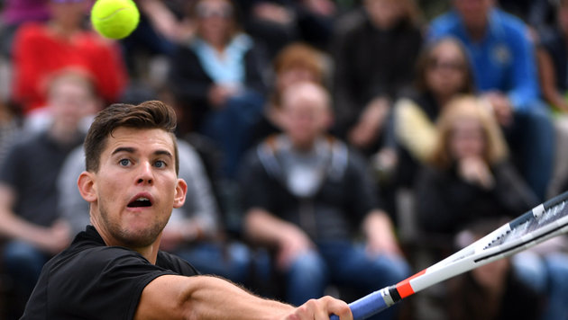 Wahnsinn! Dominic Thiem wieder im Viertelfinale (Bild: APA/dpa/Marijan Murat)