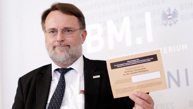 Die Wahlbehörde unter der Leitung von Robert Stein sieht keinen Grund für eine Wahlwiederholung. (Bild: APA/GEORG HOCHMUTH)