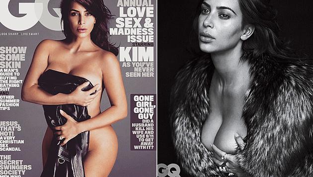"""Kim Kardashian ließ für das """"GQ"""" die Hüllen fallen. (Bild: instagram.com/gq)"""