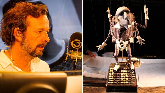 """Robert Kratky leiht in dem Marionettenstück """"Der kleine Prinz"""" gleich zwei Figuren seine Stimme. (Bild: (c) Ö3/Wolfgang Pfleger, Salzburger Marionettentheater)"""