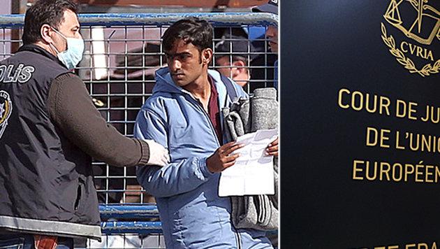 Drei Migranten klagen vor dem EuGH gegen die Abschiebungen aus Griechenland. (Bild: ASSOCIATED PRESS, APA/AFP/JOHN THYS)