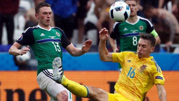 Nordirland feiert: Favorit Ukraine 2:0 bezwungen! (Bild: APA/AFP/ODD ANDERSEN)